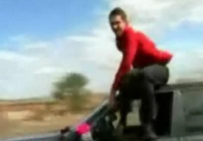 Прикол на свадьбе – водитель выпал из машины