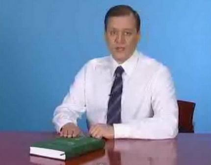 Михаил Добкин записывают предвыборную речь