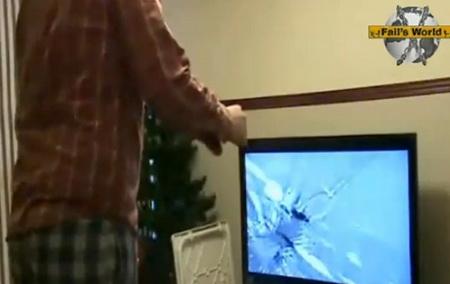 Случайно разбил телевизор