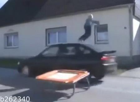 Неудачный прикол на дороге