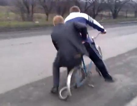 Раздавили велосипед
