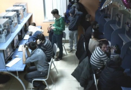 Прикол в интернет-кафе